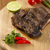 grelhado · cordeiro · costelas · servido · batata · fresco - foto stock © paulovilela