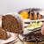 bolo · de · cenoura · peça · chocolate · textura · casa · alimentação - foto stock © paulovilela