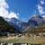 kék · hold · völgy · hó · hegy · természet - stock fotó © paulwongkwan