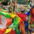 oração · bandeiras · Butão · vento · bandeira · vermelho - foto stock © paulwongkwan