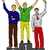 three winners on pedestal isolated on background stock photo © pavelmidi