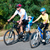 aile · bisiklet · güneşli · orman · baba · anne - stok fotoğraf © pekour
