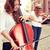 twee · vrouwen · spelen · viool · cello · straat · europese - stockfoto © pekour