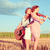 two young women playing guitar and violin outdoors split toning stock photo © pekour