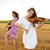dois · mulheres · jovens · jogar · guitarra · violino · ao · ar · livre - foto stock © pekour