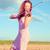 genç · kadın · oynama · keman · açık · havada · alan · yaz - stok fotoğraf © pekour