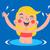 cute · niña · feliz · natación · agua · piscina · nino - foto stock © penguinline