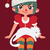 christmas girl sitting with a cat on her lap stock photo © penguinline