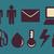 человека · человека · эволюция · технологий · stick · figure · пиктограммы - Сток-фото © penguinline