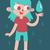 água · espírito · desenho · animado · estilo · natureza · criança - foto stock © penguinline