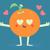 cute orange crazy in love stock photo © penguinline