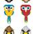 madarak · illusztráció · aranyos · baglyok · papagájok · sasok - stock fotó © penivajz