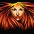 hermosa · niña · fuego · ilustración · mujer - foto stock © penivajz