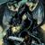 draak · jager · illustratie · strijd · groot · zwarte - stockfoto © penivajz