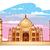 Taj · Mahal · ilustração · azul · roxo · céu · estrelas - foto stock © penivajz