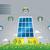 öko · napelemek · ház · illusztráció · vészhelyzet · hatékony - stock fotó © penivajz