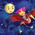 kislány · lovaglás · gépi · madár · illusztráció · piros - stock fotó © penivajz