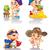 édes · babák · játék · illusztráció · vicces · érdekes - stock fotó © penivajz