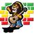 reggae · leeuw · illustratie · gitaar · Jamaica · cap - stockfoto © penivajz
