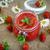 イチゴ · ジャム · ガラス · jarファイル · イチゴ · 表 - ストックフォト © Peredniankina