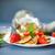 túró · palacsinta · bogyók · fa · asztal · étel · konyha - stock fotó © peredniankina