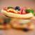 vegetariano · mini · caseiro · servido · pizza - foto stock © peredniankina