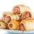 salsiccia · torta · isolato · bianco · alimentare · cena - foto d'archivio © peredniankina