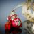 decorative red heart with ribbon stock photo © peredniankina