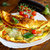 fried omelet with eggplant and tomatoes zdjęcia stock © peredniankina