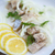 sózott · hagymák · asztal · kenyér · tányér · halászat - stock fotó © peredniankina