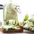 galletas · aislado · blanco · fondo · verde · grupo - foto stock © peredniankina