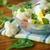 サラダ · カリフラワー · トマト · ハーブ · プレート · 食品 - ストックフォト © peredniankina