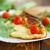 tomaten · sla · plaat · bladeren · vlees · plant - stockfoto © peredniankina