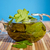 chá · verde · fresco · de · azul · folha · medicina - foto stock © Peredniankina