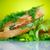 a · la · parrilla · jamón · queso · superior · tabla · de · cortar - foto stock © peredniankina