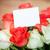 ピンク · バラ · 花束 · グリーティングカード · 木製のテーブル · 先頭 - ストックフォト © peredniankina