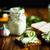 чеснока · сыра · Печенье · два · белый · хлеб - Сток-фото © peredniankina