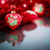 christmas red hearts with red garland stock photo © peredniankina