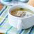 zöldségleves · húsgombócok · fehér · tányér · narancs · étterem - stock fotó © peredniankina