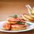 フライド · チーズ · 魚 · 緑 · サラダ · ケーキ - ストックフォト © peredniankina