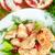 pörkölt · tyúk · zöldség · gyümölcssaláta · narancs · vacsora - stock fotó © peredniankina