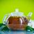 茶 · ティーポット · 支店 · 食品 · 背景 · 緑 - ストックフォト © Peredniankina