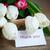 ramo · tulipanes · edad · mesa · arpillera · flor - foto stock © Peredniankina