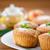 alma · muffin · fiatal · nő · választ · egészséges · étel - stock fotó © peredniankina