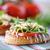 szendvics · gombák · fából · készült · felület · étel · olaj - stock fotó © peredniankina