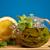 chá · verde · de · gengibre · fresco · azul · folha - foto stock © Peredniankina