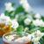 yeşil · çay · fincan · demlik · ahşap · masa · yaprak · bahçe - stok fotoğraf © peredniankina