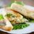 fried stuffed spring rolls on a plate stock photo © peredniankina