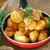 primer · plano · ternera · frito · patatas · vidrio · fondo - foto stock © peredniankina