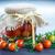 augurken · specerijen · groenten · glas · jar · tabel - stockfoto © peredniankina